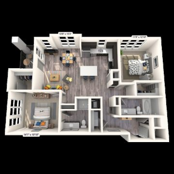 Apartment 265 floor plan