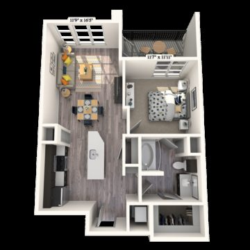 Apartment 243 floor plan